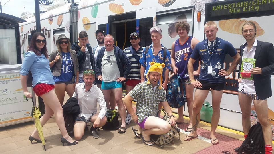 No Pants Tram Ride 2015